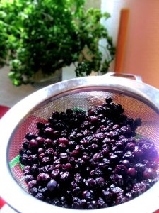 Strained Organic Blueberries